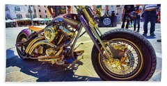 2016 Custom Harley Winner Beach Towel by Graham Hawcroft pixsellpix