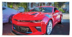 Beach Towel featuring the photograph 2017 Chevrolet Camaro Ss2  by Rich Franco