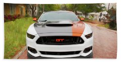 2017 Ford Gt Mustang 5.0 Beach Towel