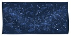 2017 Pi Day Star Chart Carree Projection Beach Towel