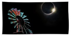 2017 Total Eclipse Central Nebraska Beach Towel