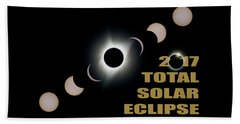 2017 Total Solar Eclipse Phases Beach Towel