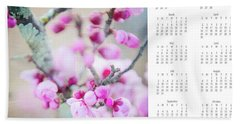 Beach Towel featuring the photograph 2017 Wall Calendar Cherry Blossoms by Ivy Ho