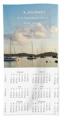 Beach Towel featuring the photograph 2017 Wall Calendar Journey by Ivy Ho