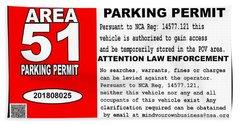 2018 Area 51 Parking Permit Beach Towel