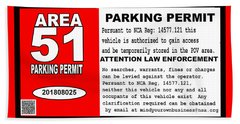 2018 Area 51 Parking Permit Beach Towel