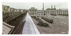 207th Street Subway Yards Beach Towel