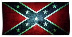 Beach Towel featuring the photograph Confederate Flag by Les Cunliffe
