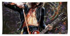 Jimmy Page Collection Beach Sheet by Marvin Blaine
