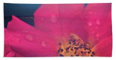 Texture Flowers Beach Towel by Andre Faubert