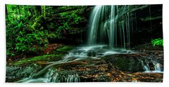 West Virginia Waterfall Beach Towel