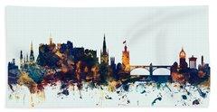 Edinburgh Scotland Skyline Beach Towel