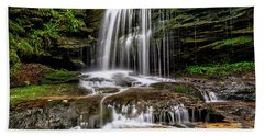 West Virginia Waterfall Beach Towel by Thomas R Fletcher