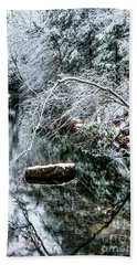 Beach Towel featuring the photograph Winter Along Cranberry River by Thomas R Fletcher