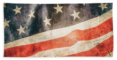 Beach Towel featuring the photograph American Flag by Les Cunliffe