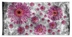 22a Abstract Floral Painting Digital Expressionism Art Beach Towel