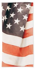 Beach Sheet featuring the photograph American Flag by Les Cunliffe