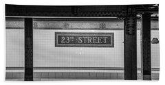 23rd Street Subway Nyc Beach Towel