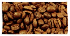 Beach Towel featuring the photograph Coffee Beans by Les Cunliffe