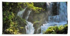 Waterfall Scenery Beach Towel