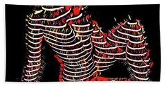 2450s-mak Lined By Light Nude Woman Rendered As Abstract Oil Painting Beach Towel