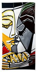 Picasso By Nora Fingers Beach Towel
