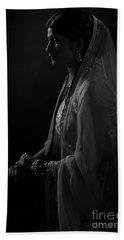 Portrait Of Indian Lady Beach Towel
