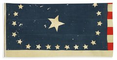 Beach Towel featuring the painting 25-star American National Flag by Artistic Panda