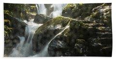 Waterfall Scenery Beach Sheet
