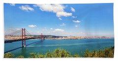 25th April Bridge Lisbon Beach Sheet