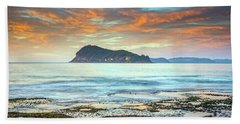 Sunrise Seascape With Clouds Beach Sheet