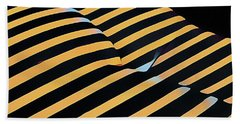 2612s-ak Abstract Rear Butt Bum Thighs Zebra Striped Woman In Composition Style Beach Towel