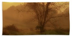 Misty Mountain Sunrise Beach Towel