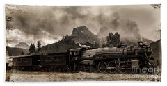 Beach Towel featuring the photograph 2816 Empress At Three Sisters - Canmore by Brad Allen Fine Art
