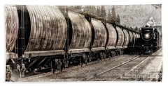 Beach Towel featuring the photograph 2816 Empress Passing Grain by Brad Allen Fine Art