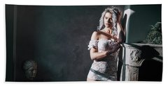 Beach Towel featuring the photograph Tu M'as Promis by Traven Milovich