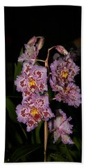 Cattleya Style Orchids Beach Towel