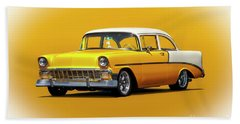 1956 Chevrolet Bel Air Coupe Beach Towel