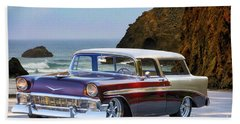 1956 Chevrolet Nomad Wagon Beach Towel
