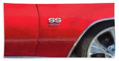1970 Chevy Chevelle 454 Ss  Beach Sheet by Rich Franco