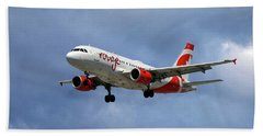 Air Canada Rouge Airbus A319 Beach Towel
