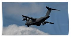 Airbus A400m Beach Sheet by Shirley Mitchell