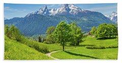 Alpine Beauty Beach Sheet by JR Photography
