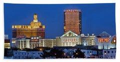 Atlantic City Skyline Beach Towel