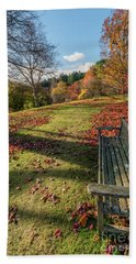 Beach Sheet featuring the photograph Autumn Leaves by Adrian Evans