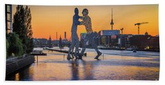 Berlin Sunset Beach Towel