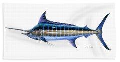 Blue Marlin Beach Towel