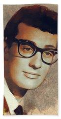 Buddy Holly, Music Legend Beach Towel