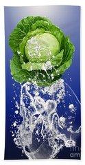 Cabbage Splash Beach Towel