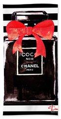 Chanel Noir Perfume Beach Towel